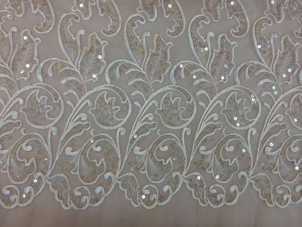 Ivory Sequin Lace