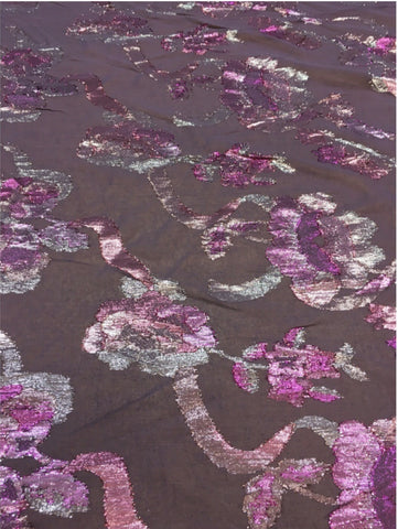 Silk Chiffon with Metallic embellishment