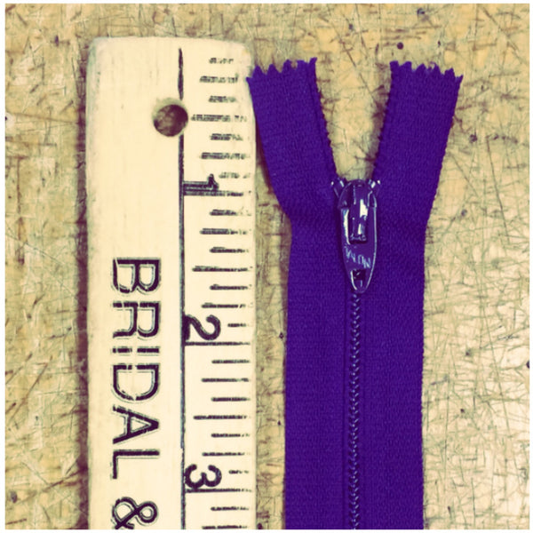 "16"" Zippers 100 Bulk- Wholesale Color Purple"
