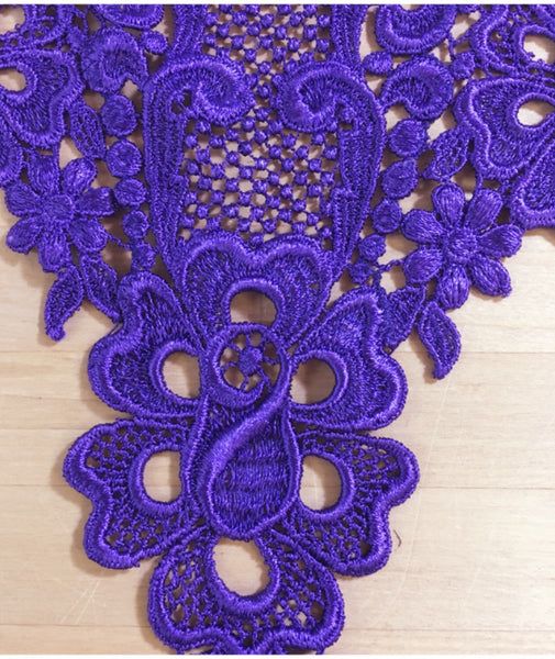 Purple Venise Applique