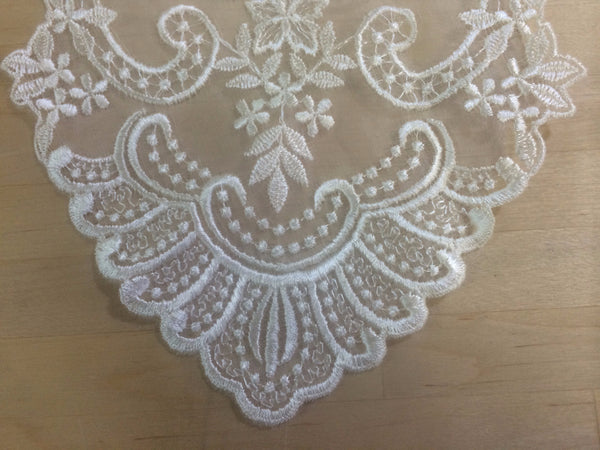 Ivory Re-Embroidered Applique