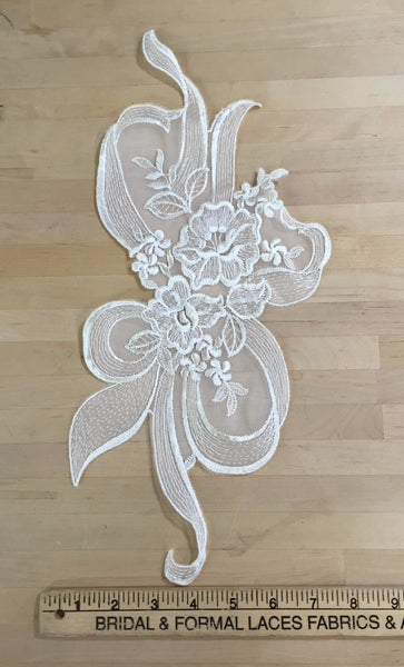White Re-Embroidered Applique