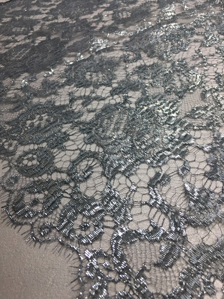 Silver Metal Chantilly lace