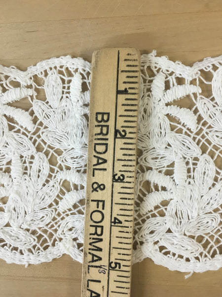 White battenburg lace