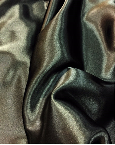 Black Crepe Back Satin