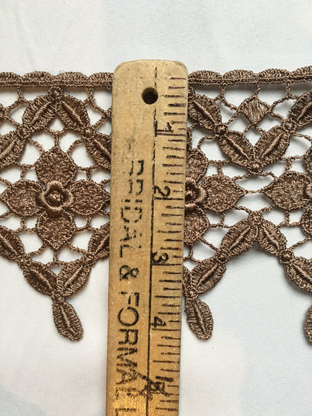 Latte Brown Venise Lace Trim