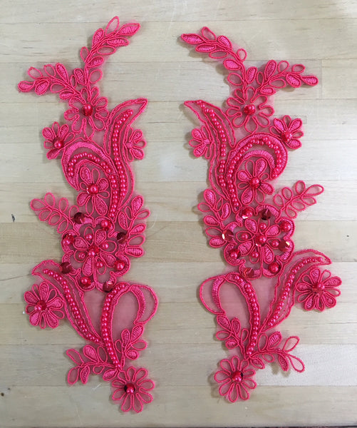 Coral Beaded Applique