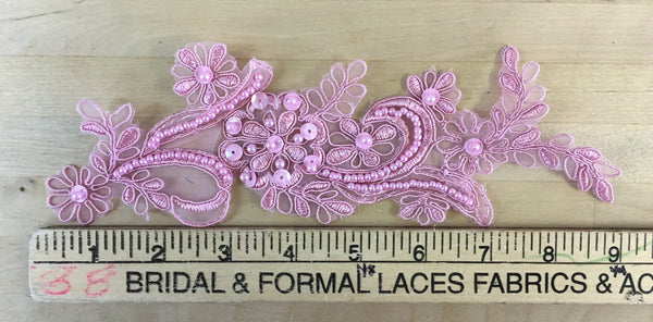 Dusty Rose Beaded Applique