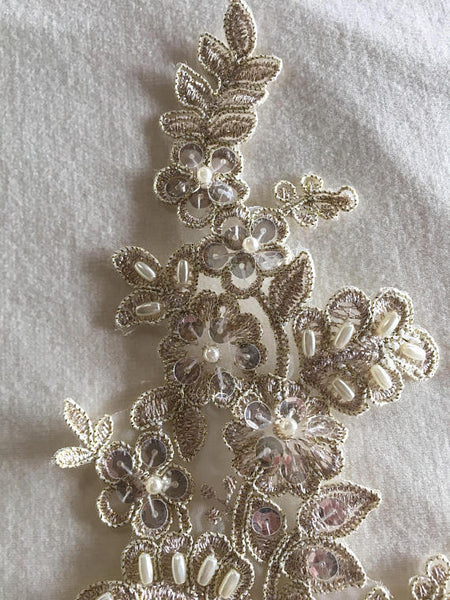 Gold Beaded Applique