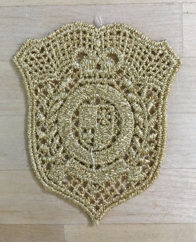 Gold Metallic Applique with emblem