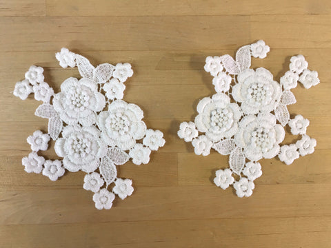 White Guipure Lace Applique