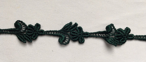 Hunter Green Venise Lace Trim