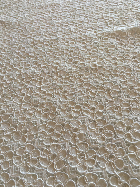 Ivory Corded Alencon lace