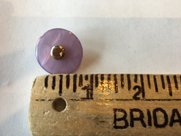 Medium light lilac sewing buttons 23mm 7/8 inch sewing buttons, 6 vintage, plastic buttons