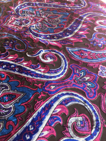 Paisley pattern Burnout velvet