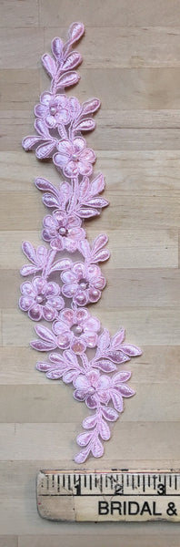 Pink Beaded Applique