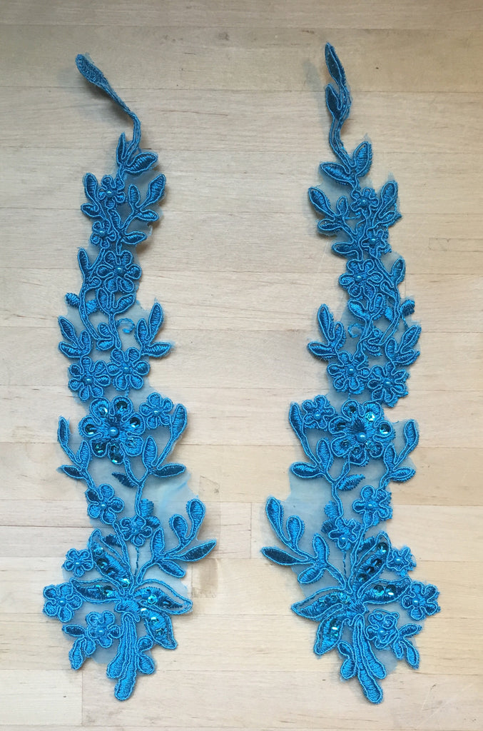 Turquoise Beaded Appliques