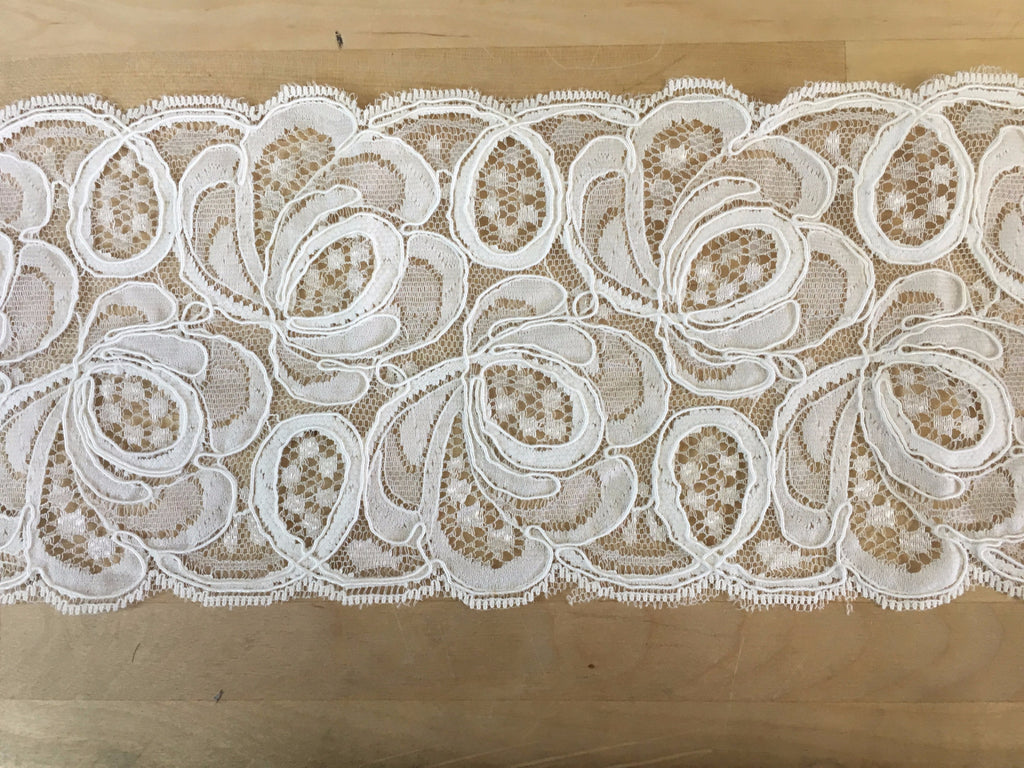 Ivory Corded Lace Trim