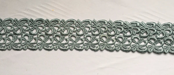 Light Slate Green Venise Lace Trim