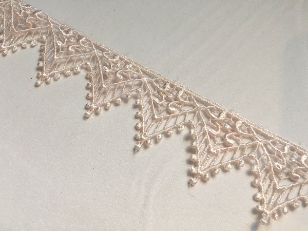 Light Pink Venise Lace Trim
