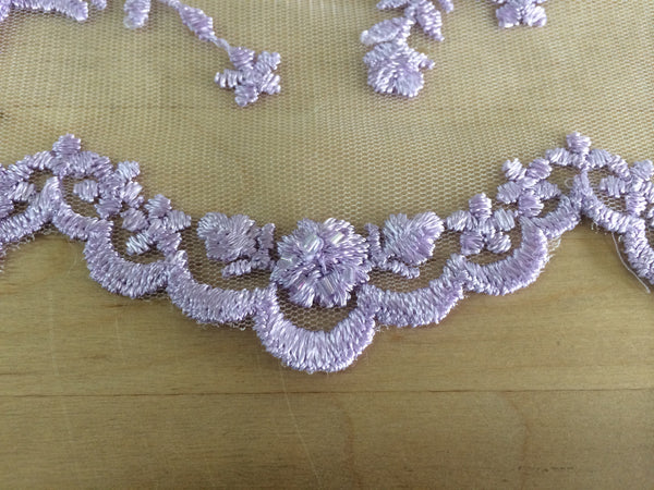 Lilac beaded lace