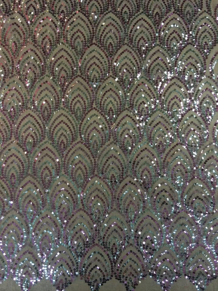 Pink and Silver Sequin Fabric