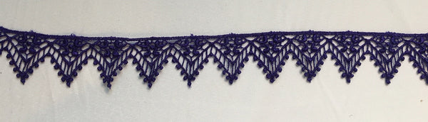Purple Venise Lace Trim