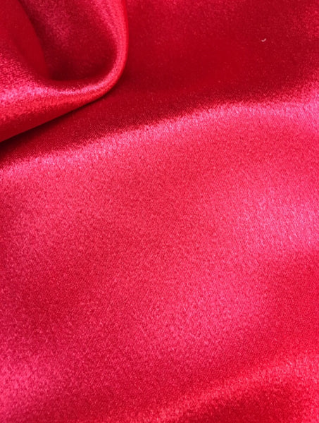 Red Crepe Back Satin