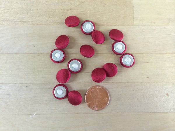Red Bridal Buttons