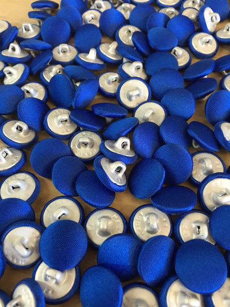 Royal Blue Covered Vest Buttons