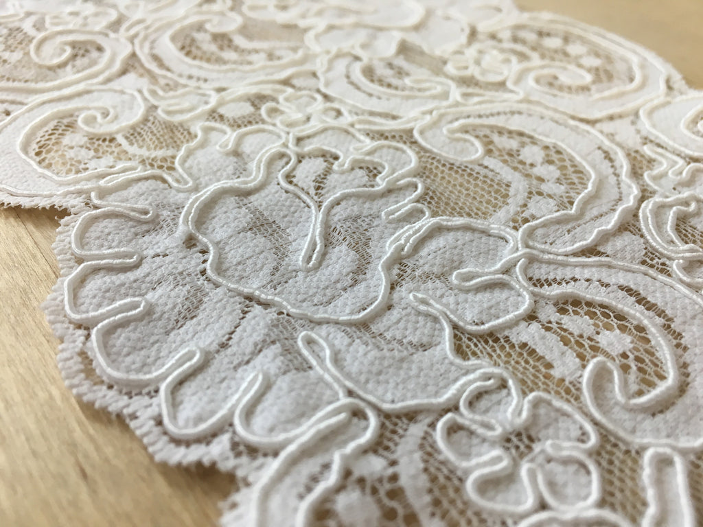 White Corded Lace Trim
