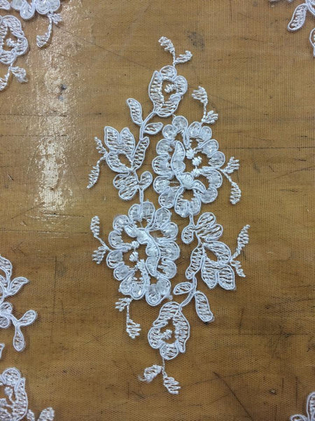 White Beaded Lace