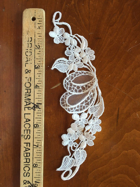 White Venise Applique