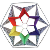 Clarke's Crystal Box Kite - Rainbow Op Art