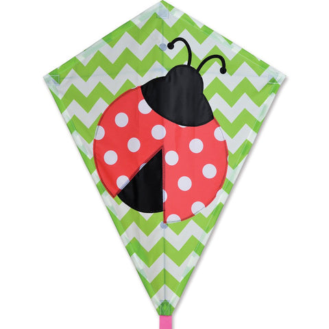 25 in. Diamond Kite - Lively Ladybug