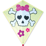 30 in. Diamond Kite - Girl Skull