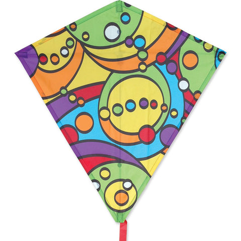 30 in. Diamond Kite - Rainbow Orbit