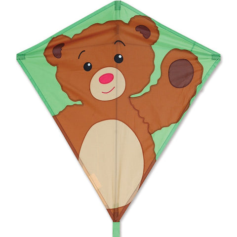 30 in. Diamond Kite - Teddy Bear