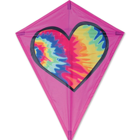 25 in. Diamond Kite - Tie Dye Heart