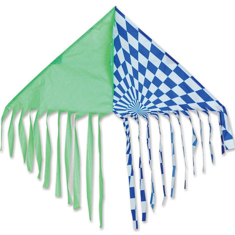 Fringe Delta Kite - Green/Blue