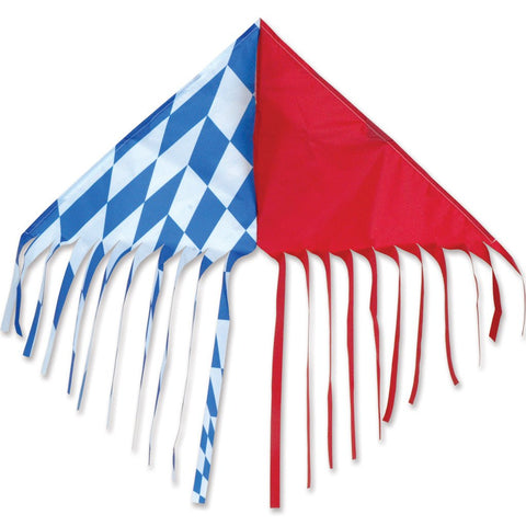 Fringe Delta Kite - Red/Blue