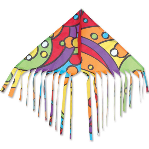 Fringe Delta Kite - Rainbow Orbit