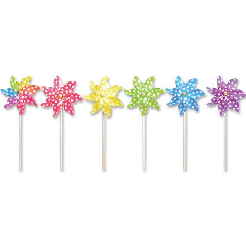 9 in. Pinwheel - Polka Dot (Set of 24)