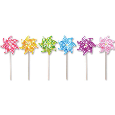 12 in. Pinwheel - Gingham (Set of 24)