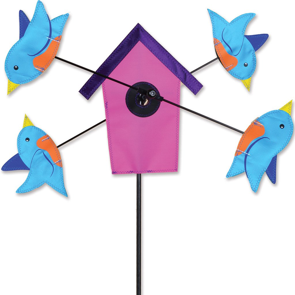 9 in. WhirliGig Spinner - Bluebird Birdhouse