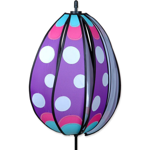 Spinning Egg Spinner - Purple Polka