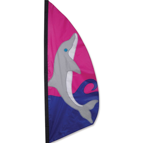 3.5 ft. Feather Banner-Dolphin