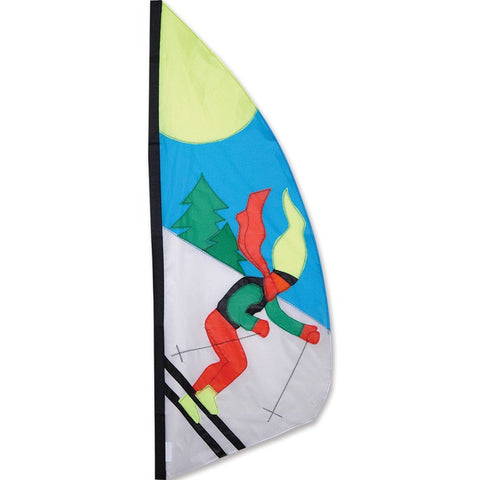 3.5 ft. Feather Banner - Skier