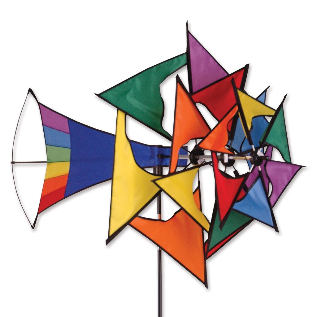 Large Rainbow Windmill Spinner