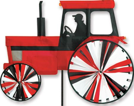 24 in. Modern Tractor  Spinner - Red